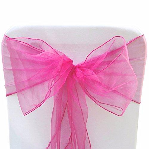 härpen für Hochzeit breit Schleife umfassende für Stuhl Dekoration in die Geburtstag Party Events, durch trimmen Shop Hot Pink / Fuchsia (Hot Pink Und Schwarz-party Dekorationen)
