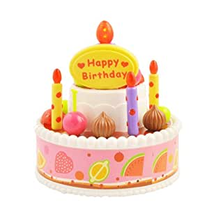 Ebest - Musical Gâteau électrique bougie d'anniversaire, 3 * piles AA nécessaires (non inclus).