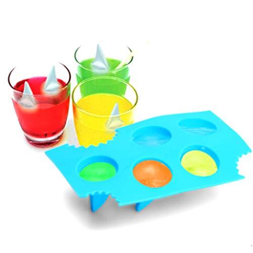 wüRfel-Formen, Sommer Kreative Haifischflosse EiswüRfelschale Maker EiswüRfelschokoladenform Kuchen Silikonform 15,8X15X1,5 cm ()