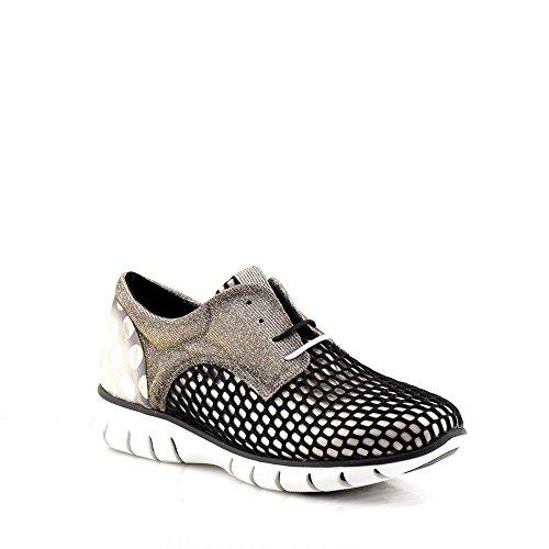Felmini - Scarpe Donna - Innamorarsi com Runner 9479 - Sneakers - textile Genuina - Nero - 38 EU Size