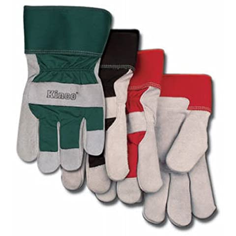 KINCO INTERNATIONAL - Large Men's Lined Suede Cowhide Leather Palm Gloves