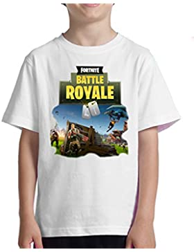 Acokaia Camiseta Fortnite para niño Blanca