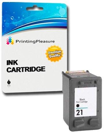 Printing Pleasure SCHWARZ Druckerpatrone für HP Deskjet F2110 F2120 F2128 F2140 F2180 F2185 F2187 F2188 F2200 F2210 F2212 F2214 F2224 F2250 F2275 F2280 F2290 F300 F310 F325 F335 F340 F350 F370 F375 F380 F390 F394 F4135 F4140 F4180 D1320 D1330 D1341 D1360 D1420 D1430 D1445 D1455 D1520 D1530 D1560 D1568 D2320 D2330 D2345 D2360 D2368 D2400 D2430 D2445 D2460 D1560 D2330 D2360 | kompatibel zu HP 21XL (C9351AE)