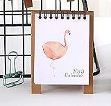 2019 Cartoon Calendar Fenicotteri Animal Desk Stand up Calendario da tavolino Flip Stand Table Office Planner
