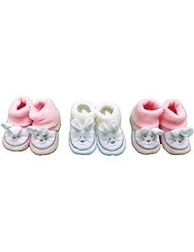 ptiparis–3Pares de Pantuflas nacimiento conejo–bebé niña