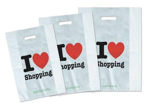 dalbags-kg-3-Taschen-Shopper-aus-Kunststoff-Economy-Typ-se-Druck-Generica-I-Love-Shopping-Format-25-10-x-40-cm