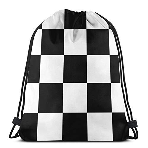 Bag hat Checker Board 3D Print Drawstring Backpack Rucksack Shoulder Gym for Adult 16.9