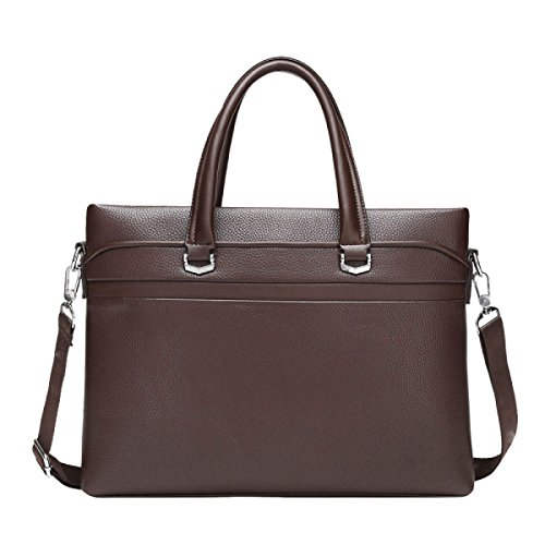 Handtasche Grenze Business Business Leder Computer Taschen Große Kapazitäten Männer ' Brown
