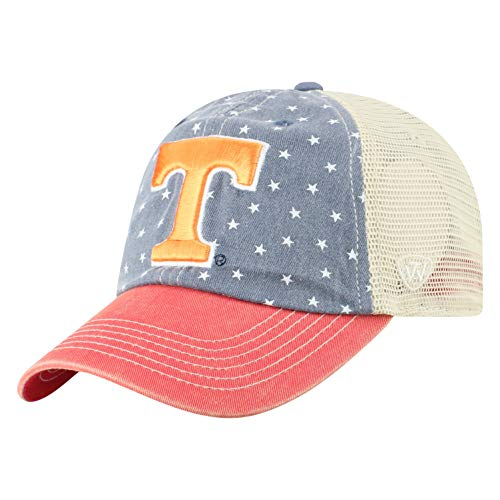 Top of the World NCAA Tennessee Volunteers Men's Freedom Icon Adjustable Logo Hat, Navy