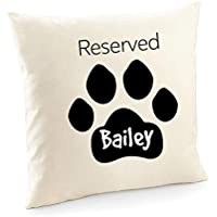 Dog name cushion cover/Reserved paw prints/Dog lover housewarming gift/Dog breed/Throw pillow/Doglover birthday gift