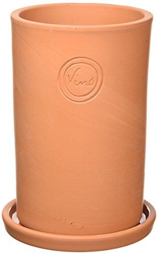 Leonardo 072888 - Terracotta Weinkühler/Getränkekühler - mit Untersetzer