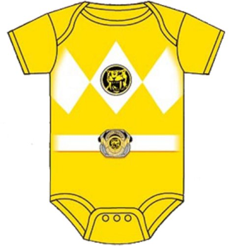 Power Rangers Baby Ranger Kostüm Strampler Onesie (12-18 Monate, gelb)