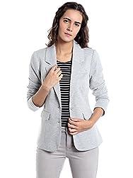 VERO MODA Womens Cotton Cardigan (10135820_Light Grey Melange_XL)