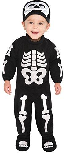 Klitze-kleine Knochen Skelett Baby Kostüm 6-12Monate (Baby Knochen Kostüm)