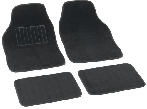 Bottari 14080 Set Tappeti Auto Soft in Soffice Moquette, Universali, Nero