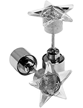 LED Ohrstecker Ohrringe Stern in verschiedenen Farben