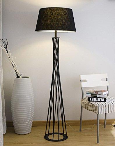 GUOPENGFEI Stehlampe Mode kreative Persönlichkeit Schmiedeeisen Stehleuchte Büro Wohnzimmer Schlafzimmer Studie Stehlampe,BLACK