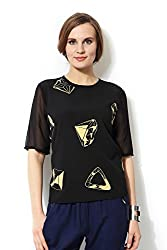 Allen Solly Womens Regular Fit Shirt_ AWTS515C06697_S_ Black