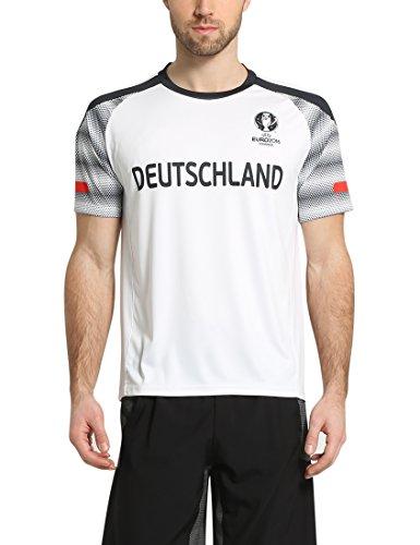 Summary Camiseta, Campeonato de Europa de Fútbol 2016, Unisex, Color Blanco, tamaño S