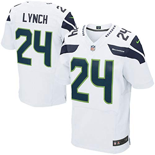 cjbaok NFL Jersey Seattle Seahawks 3# 12# 24# 25# 29# 31# 89# Fußball Jersey Fan Edition Stickerei Kurzarm Top T-Shirts,White-24,XXXL