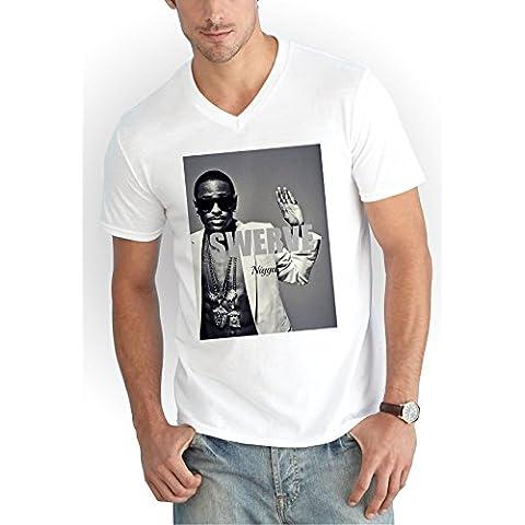 Big Sean Swerve V-Neck T-Shirt Blanco