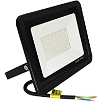 Popp Floodlight Led Foco Proyector Led 50w para Exterior Iluminación Decoración 6000k luz fria Impermeable IP65 Negro (50)