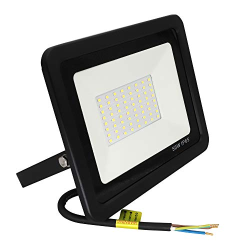 Popp Floodlight Led Foco Proyector Led 50w para Exterior Iluminación Decoración 6000k...