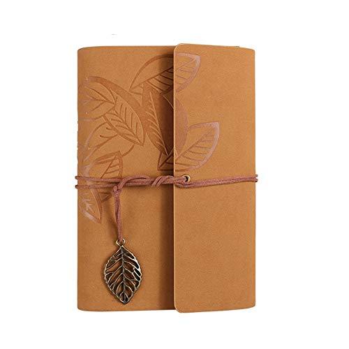 zyhzx Familientagebuch, Geschenkverpackung PU Leder Notizbuch/Notizblock / Bullet Diary/Schedule, 123 * 184mm -