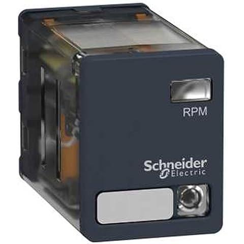 Schneider Electric rpm23fd Relè 2co 15A 110Vdc, potenza Relé–Zelio RPM–2C/O–110V DC–15A, con LED