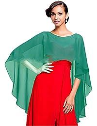 CoCogirls Elegant Chiffon Stola Schal für Brautkleider Schals Tücher Pashminas Abendkleider Alltagskleidung Hochzeit Wraps