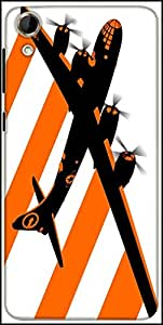 Snoogg Orange Smoke Plan 2509 Designer Protective Back Case Cover For HTC Desire 728