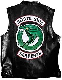 XXW Riverdale Serpents River Valley Man TownEmbroidery Chaleco PU Leather Riverdale Chaleco De Gran Tamaño Unisex