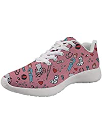 Showudesigns Zapatillas de Running Adulto Zapatos De Trabajo Senderismo Zapatillas de Running para Mujer Deportivas