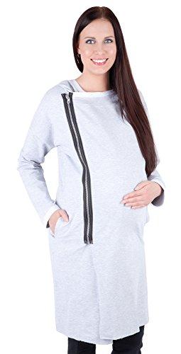 Mija – Veste moderne zippée pour les femmes de maternité 9000 Melange