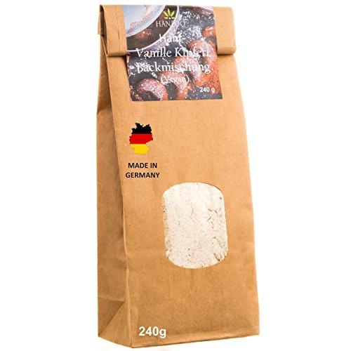 *Backmischung Vegan Vanillekipferl aus Hanf-mehl 240g – Made in Germany – Vegane Keks-backmischung – Vegane Vanillekipferl zum Selberbacken mit Hanfsamen-mehl*