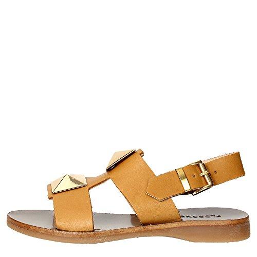Florens F7636 Sandale Fille Marron cuir
