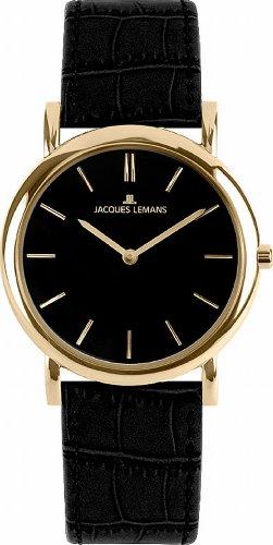 Jacques Lemans Damen-Armbanduhr XS Classic Analog Quarz Leder 1-1371E
