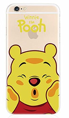 Phone Kandy® Aquarellkunst Karikatur Telefonkasten iPhone Weiche Silikonhülle Hülle (iPhone 6 6s Plus (5.5 inch), Winnie the Pooh)
