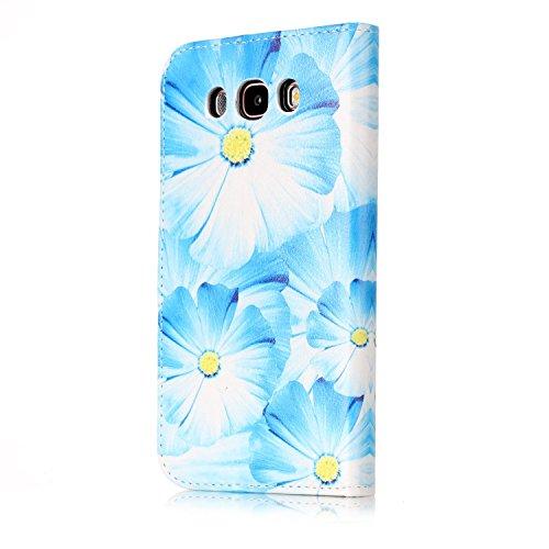 Galaxy J5 2016 Coque Mode,Coque Cuir Etui Pour Samsung Galaxy J510,Ekakashop Bookstyle Flip Cover Clapet Rabat Shell Couvercle Magnétique Portefeuille Housse Protectrice Wallet Case Etui avec Motifs d Orchidée