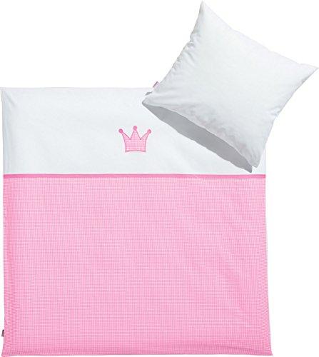 Baby Butt Bettwäsche Linon rosa Größe 80x80 cm (35x40 cm)