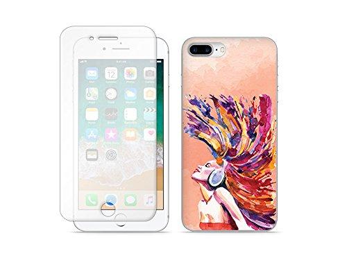 etuo Apple iPhone 8 Plus - Hülle Full Body Slim Fantastic - Buntes Mädchen - Handyhülle Schutzhülle Etui Case Cover Tasche für Handy