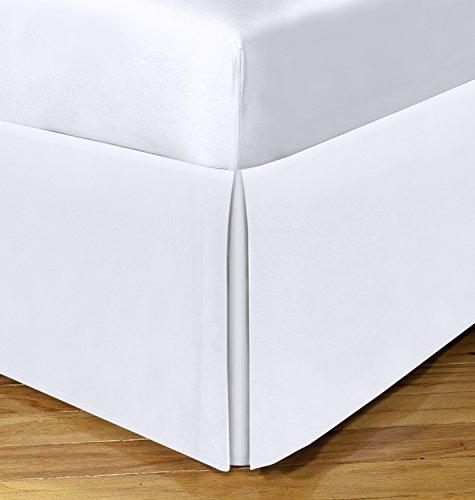 Space Maker Saver Tailored Unterbettkommode 53,3cm Bettvolant, weiß, Twin XL -