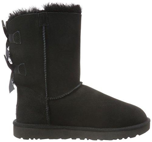 Ugg Australia Bailey Bow, Chaussures À Col Roulé Noir Pour Femme