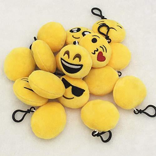 (su-luoyu Mini Emoji Plüsch Schlüsselanhänger Nett Stil Schlüsselring Smileys Tasche Anhänger, Kreativ Mobiltelefon Schlüsselwölbung Dekorative, Geldbörse/Tasche /Auto Schlüsselkette)