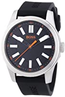 Boss Orange Big Up 1512936 - Reloj analógico de cuarzo para hombre, correa de silicona color negro de Boss Orange