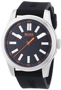 Boss Orange Big Up 1512936 - Reloj analógico de cuarzo para hombre, correa de silicona color negro de Boss Orange