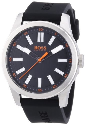 Boss Orange Herren-Armbanduhr XL Big Up Analog Quarz Silikon 1512936