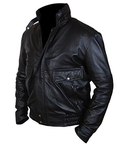 F&H Men's Johnny Depp Black Mass James Whitey Bulger Bomber Jacket Black