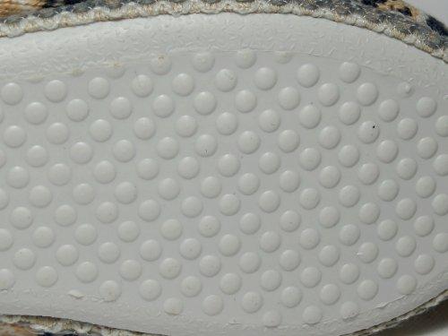 Warm gefütterte Hausschuhe mit weißer, flexibler Sohle, Gr. 36-42 gelb/grau/beige