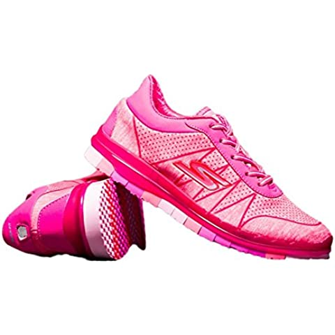 Sneakers donna S Light Cushion Go Flex Ability Walking Lace Up Shoes Trail Road Casual Running Jogging Sport Shoes Scarpe Running Footwear Mutandine di in rosa, Donna, Pink, EUR36